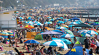 BNPS.co.uk (01202 558833)<br /> Pic: PhilYeomans/BNPS<br /> <br /> The heat goes on...<br /> <br /> Bournemouth beach was packed again today as the Bank Holiday heatwave continued.