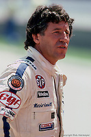 INDIANAPOLIS, IN - MAY 30: Mario Andretti in the pit lane during practice for the Indianapolis 500 on May 30, 1982, at the Indianapolis Motor Speedway in Indianapolis, Indiana.