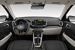 Stock photo of straight dashboard view of 2020 Hyundai Venue Denim 5 Door SUV Dashboard