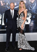 HOLLYWOOD, LOS ANGELES, CA, USA - AUGUST 11: Jason Statham, Rosie Huntington-Whiteley at the Los Angeles Premiere Of Lionsgate Films' 'The Expendables 3' held at the TCL Chinese Theatre on August 11, 2014 in Hollywood, Los Angeles, California, United States. (Photo by Xavier Collin/Celebrity Monitor)