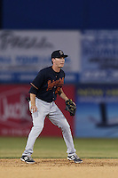 Zachary Vincej #5 of the Bakersfield Blaze during a game against the Lancaster JetHawks at The Hanger on May 13, 2014 in Lancaster California. Lancaster defeated Bakersfield, 1-0. (Larry Goren/Four Seam Images)