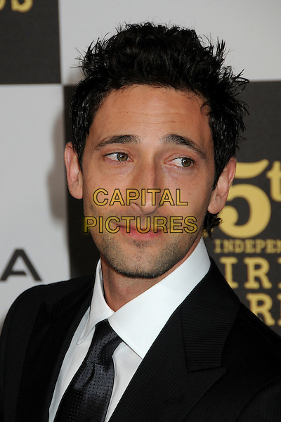 ADRIEN BRODY.25th Annual Film Independent Spirit Awards - Arrivals held at the Nokia Event Deck at L.A. Live, Los Angeles, California, USA..March 5th, 2010.headshot portrait black white adrian .CAP/ADM/BP.©Byron Purvis/AdMedia/Capital Pictures.