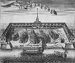 View of the Admiralty Shipyard in St. Peterburg, 1717. Artist: Rostovtsev, Alexei Ivanovich (1670s-1730s)
