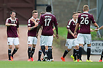 St Johnstone v Hearts...03.08.14  Steven Anderson Testimonial<br /> Gary Oliver celebrates his first goal<br /> Picture by Graeme Hart.<br /> Copyright Perthshire Picture Agency<br /> Tel: 01738 623350  Mobile: 07990 594431