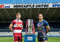 Picture by Allan McKenzie/SWpix.com - 14/05/2018 - Rugby League - Dacia Magic Weekend 2018 Preview - St James Park, Newcastle, England - Wigan's George Williams & Warrington's Tyrone Roberts.