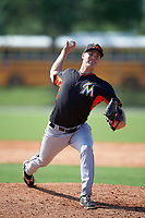 Miami Marlins LJ Brewster (75) during a minor league Spring Training intrasquad game on March 31, 2016 at Roger Dean Sports Complex in Jupiter, Florida.  (Mike Janes/Four Seam Images)