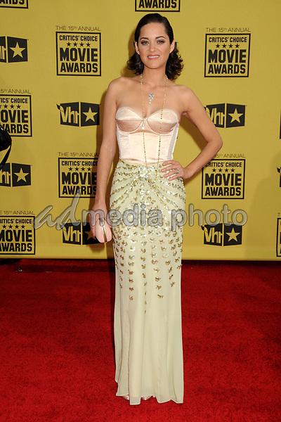15 January 2010 - Hollywood, California - Marion Cotillard. 15th Annual Critics' Choice Movie Awards - Arrivals held at the Hollywood Palladium. Photo Credit: Byron Purvis/AdMedia