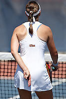 SAN ANTONIO, TX - APRIL 6, 2008: The Texas State University Bobcats vs. The University of Texas at San Antonio Roadrunners Women's Tennis at the UTSA Tennis Center. (Photo by Jeff Huehn)
