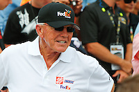 19 June, 2011: Coach Joe Gibbs, owner of Joe Gibbs Racing (JGR) and the winning car number 11 of Denny Hamlin, celebrates after the 43rd Annual Heluva Good! Sour Cream Dips 400 at Michigan International Speedway in Brooklyn, Michigan.