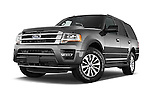 Stock pictures of low aggressive front three quarter view of a 2017 Ford Expedition XLT 5 Door SUV Low Aggressive