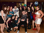 Dean Simpson celebrating his 18th birthday in the Thatch with all his friends. Photo:Colin Bell/pressphotos.ie