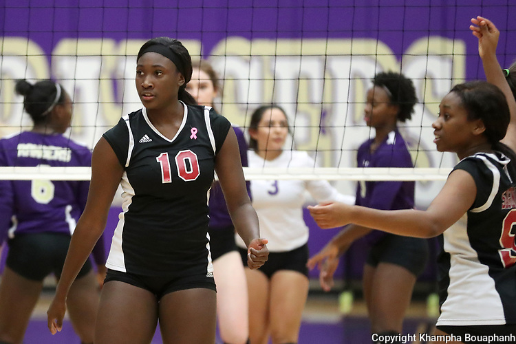 Chisholm Trail plays Saginaw in round two of 6-5A high school volleyball in Fort Worth on Tuesday, October 17, 2017. (photo by Khampha Bouaphanh)