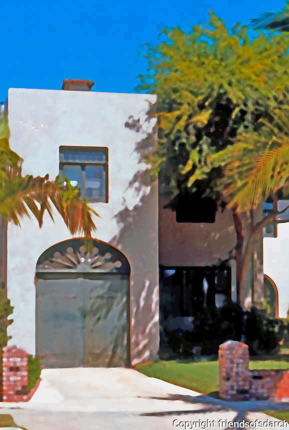Irving Gill: Teats Cottage #2, 3415 Albatross, San Diego. 1912. Photo '76.