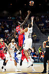 Real Madrid Walter Tavares and CSKA Moscow Othello Hunter during Turkish Airlines Euroleague match between Real Madrid and CSKA Moscow at Wizink Center in Madrid, Spain. November 29, 2018. (ALTERPHOTOS/Borja B.Hojas)