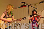 Anges and Annmarie Fitzgerald from The Fitzy Chicks preforms live on stage for The Brosna Varity Show last Friday night.