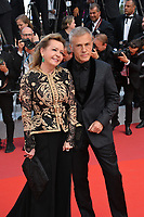 CANNES, FRANCE. May 25, 2019: Christoph Waltz & Caroline Scheufele at the Closing Gala premiere of the 72nd Festival de Cannes.<br /> Picture: Paul Smith / Featureflash