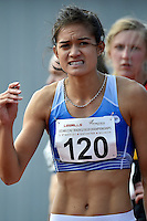 Rochelle Coster in action during the Athletics - NZ Track and Field Championships at Newtown Park, Newtown, New Zealand on Friday 6 March 2015. <br /> Photo by Masanori Udagawa. <br /> www.photowellington.photoshelter.com.