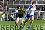 Kerry  Paul Murphy and  Conor McManus Monaghan  during their NFL clash in Fitzgerald Stadium on Sunday