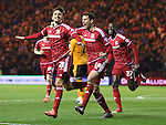 Gaston Ramirez of Middlesbrough celebrating after scoring the first goal of the game - Sky Bet Championship - Middlesbrough vs Wolverhampton Wanderers - Riverside Stadium - Middlesbrough - England - 4th of March 2016 - Picture Jamie Tyerman/Sportimage<br /> --------------------<br /> Sport Image<br /> 15/16 Middlesbrough v Wolves<br /> <br /> 04 March 2016<br /> &copy;2016 Sport Image all rights reserved