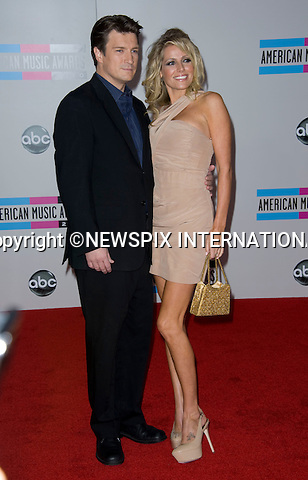 """NATHAN FILLION.American Music Awards 2010,Nokia Rheatre, Los Angeles_21/10/2010.Mandatory Photo Credit: ©Dias/Newspix International..**ALL FEES PAYABLE TO: """"NEWSPIX INTERNATIONAL""""**..PHOTO CREDIT MANDATORY!!: NEWSPIX INTERNATIONAL(Failure to credit will incur a surcharge of 100% of reproduction fees)..IMMEDIATE CONFIRMATION OF USAGE REQUIRED:.Newspix International, 31 Chinnery Hill, Bishop's Stortford, ENGLAND CM23 3PS.Tel:+441279 324672  ; Fax: +441279656877.Mobile:  0777568 1153.e-mail: info@newspixinternational.co.uk"""