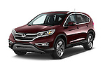 2015 Honda Cr-V Touring 5 Door Suv 2WD Angular Front stock photos of front three quarter view