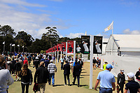 Signage on the way In-Out during the First Round - Four Ball of the Presidents Cup 2019, Royal Melbourne Golf Club, Melbourne, Victoria, Australia. 12/12/2019.<br /> Picture Thos Caffrey / Golffile.ie<br /> <br /> All photo usage must carry mandatory copyright credit (© Golffile | Thos Caffrey)