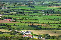 County Kerry, Ireland:<br /> Aerial view of farms and fields of the Dingle Peninsula
