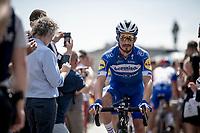 Julian Alaphilippe (FRA/Deceuninck - Quick-Step) at the race start in Brussels<br /> <br /> Stage 1: Brussels to Brussels(BEL/192km) 106th Tour de France 2019 (2.UWT)<br /> <br /> ©kramon