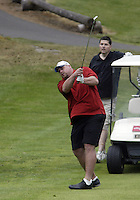 June 23, 2008:  Former Tennessee Titans offensive lineman Benji Olson watches his chip shot go to the green on the 5th hole during the Detlef Schrempf celebrity golf classic held at McCormick Woods golf club in Port Orchard, WA.