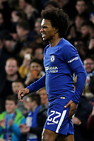 Willian of Chelsea seemed to suffer an injury as he is seen holding the back of his thigh during Chelsea vs Hull City, Emirates FA Cup Football at Stamford Bridge on 16th February 2018
