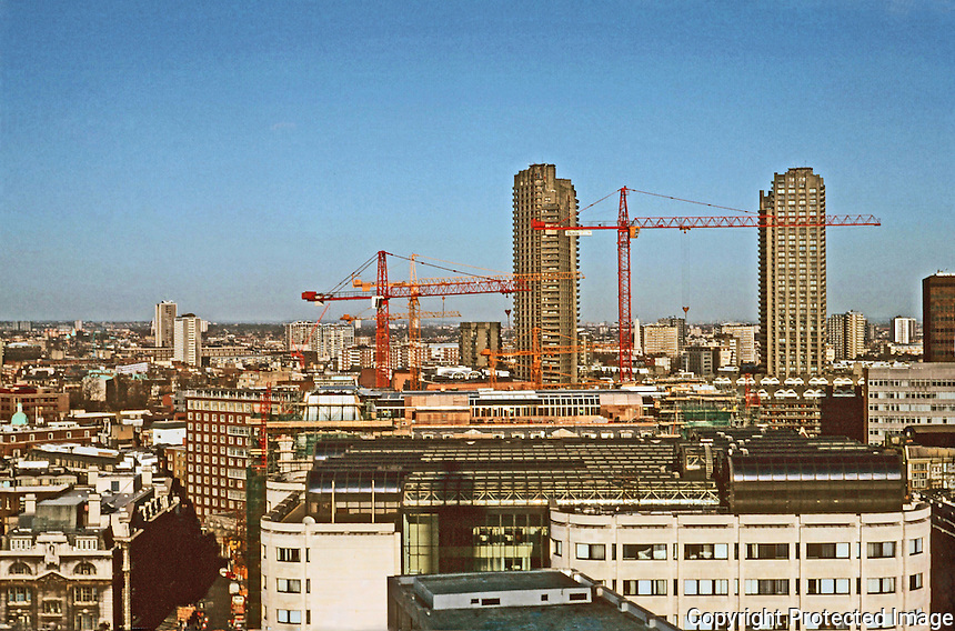 London:  13.  Panoramic view from St. Paul's--due North.  Photo '90.