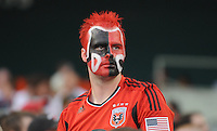 DC United fan.  Philadelphia Union tied DC United 2-2, at RFK Stadium, Saturday July 2, 2011.