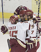 Stephen Gionta, Brian O'Hanley and Peter Harrold ce - Boston College defeated Princeton University 5-1 on Saturday, December 31, 2005 at Magness Arena in Denver, Colorado to win the Denver Cup.  It was the first meeting between the two teams since the Hockey East conference began play.