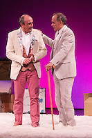 "Juanma Navas and Vicente Leon during theater play of ""Los desvarios del veraneo"" at Teatro Infanta Isabel in Madrid. July 19, 2016. (ALTERPHOTOS/Rodrigo Jimenez) NORTEPHOTO.COM"