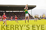 Mark Griffin Kerry in action against Brian O Driscoll Cork in the National Football league in Austin Stack Park, Tralee on Sunday.
