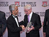 Sunil Gulati, Reinhard Rauball. US Soccer held their Centennial Gala at the National Building Museum in Washington DC.