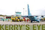 Emergency personal attend to an Irish Air Corps Plane Casa after making an emergency landing at Kerry Airport on Wedneday Morning.
