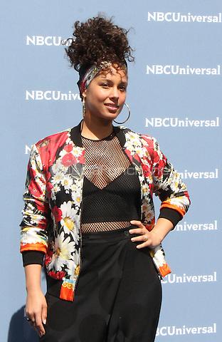 NEW YORK, NY - MAY 16: Alicia Keys at the NBCUniversal 2016 Upfront at Radio City Music Hall in New York City on May 16, 2016. Credit: RW/MediaPunch