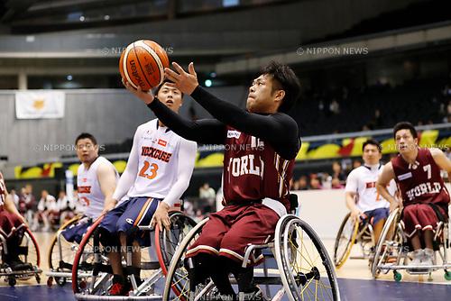 (World), <br /> MAY 4, 2017 - Wheelchair Basketball : <br /> Japan Wheelchair Basketball Championship<br /> semi-final match between NO EXCUSE - World BBC<br /> at Tokyo Metropolitan Gymnasium in Tokyo, Japan. <br /> (Photo by Yohei Osada/AFLO SPORT)
