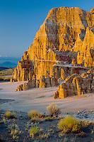 Bentonite-like clay badlands<br /> Cathedral Gorge State Park<br /> Great Basin <br /> Nevada