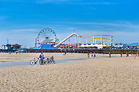 Santa Monica CA, Pacific Park Pier, city, healthy lifestyle,  world-famous beach, bike trail, outdoor recreation, activities
