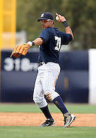 April 3, 2010:  Shortstop Reegie Corona of the New York Yankees playing in the annual Futures Game during Spring Training at Legends Field in Tampa, Florida.  Photo By Mike Janes/Four Seam Images