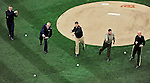 31 March 2011: Rear Admiral Paul Zukunft of the Coast Guard, Lieutenant General Richard Y. Newton III of the Air Force, Vice Admiral Michael Vitale of the Navy, Lieutenant General Terry G. Robling of the Marine Corps, and Major General Karl Horst of the Army, all throw out the ceremonial first pitch as part of the Opening Day festivities and game between the Atlanta Braves and the Washington Nationals at Nationals Park in Washington, District of Columbia. The Braves shut out the Nationals 2-0 to open the 2011 Major League Baseball season. Mandatory Credit: Ed Wolfstein Photo