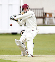 Evan Flowers bats for North Middlesex during the Middlesex County League Division two game between North Middlesex and Hornsey at Park Road, Crouch End on Sat July 9, 2011