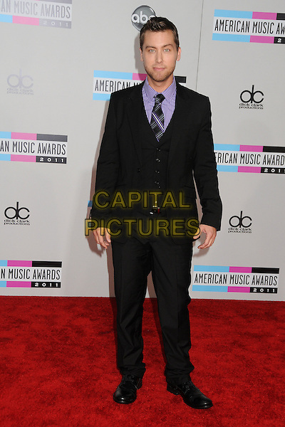 Lance Bass.2011 American Music Awards - Arrivals held at Nokia Theatre LA Live, Los Angeles, California, USA..November 20th, 2011.ama amas ama's full length black suit purple shirt .CAP/ADM/BP.©Byron Purvis/AdMedia/Capital Pictures.