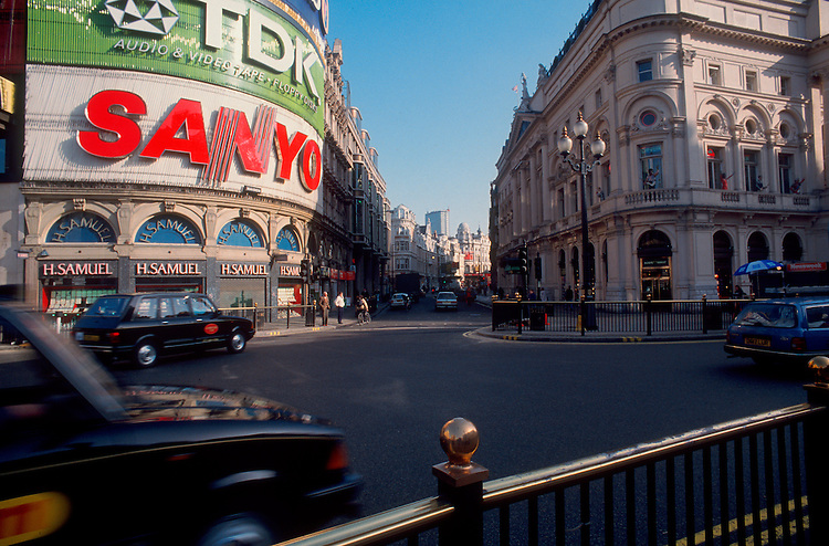 Piccadilly Circus, London, England, London street scene, Great Britain, United Kingdom,.