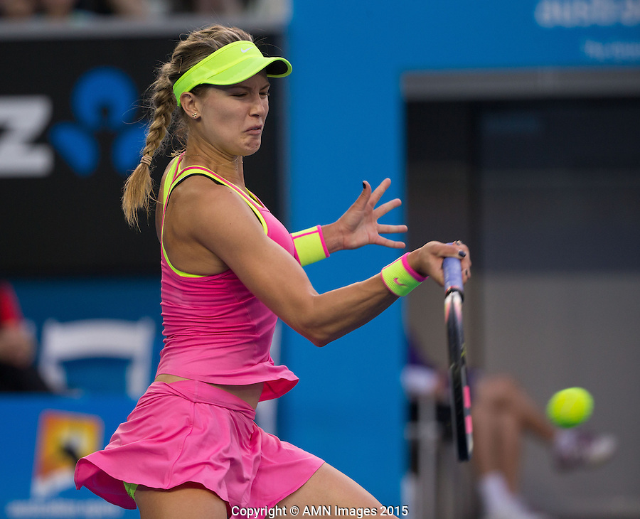 Eugenie Bouchard (CAN)<br /> <br /> Tennis - Australian Open 2015 - Grand Slam -  Melbourne Park - Melbourne - Victoria - Australia  - 21 January 2015. <br /> &copy; AMN IMAGES