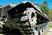 Old rusted M60A3 Main Battle Tank located at the American Legion in Epsom, New Hampshire USA