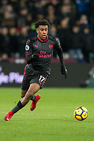 Alex Iwobi of Arsenal during the Premier League match between West Ham United and Arsenal at the Olympic Park, London, England on 13 December 2017. Photo by Andy Rowland.