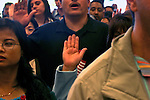Citizenship, Raising your right hand, New US Citizens swearing allegiance to the United States of America, the Fourth of July, Seattle,